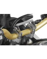 GPS handlebar bracket adapter with screws for handlebar risers 20 mm, Honda CRF1000L Africa Twin for navigation systems