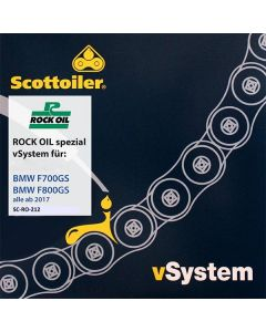 Scottoiler vSystem chain lubrication system, for BMW F700GS / F800GS, from 2017