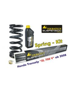 Progressive replacement springs for fork and shock absorber, Honda XL 700V Transalp from 2008