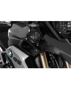 Set of LED auxiliary headlights, fog/fog black aluminium for BMW R1250GS/ R1200GS from 2013