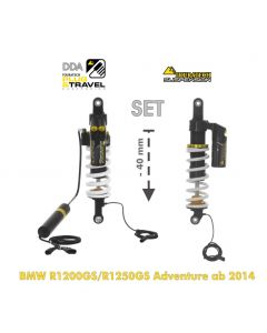 Touratech Suspension-SET Plug & Travel -40mm lowering for BMW R1200GS Adventure (LC) / R1250GS Adventure from 2014
