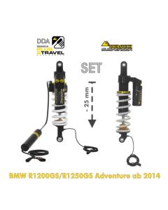 Touratech Suspension-SET Plug & Travel -25mm lowering for BMW R1200GS Adventure (LC) / R1250GS Adventure  from 2014