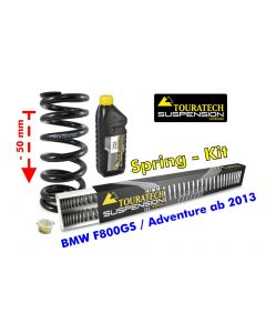 Height lowering kit, 50mm, for BMW F800GS / Adventure from 2013 replacement springs