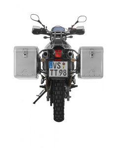 ZEGA Mundo aluminium pannier system 45/45 litres with steel rack black for Yamaha XT660R