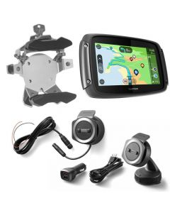 TomTom Rider 550 with worldwide maps, Bike & Car Set, silver