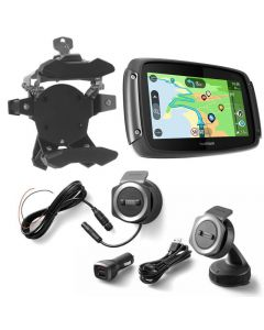 TomTom Rider 550 with worldwide maps, Bike & Car Set, black