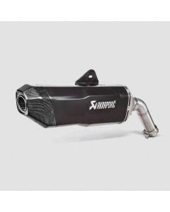 Exhaust Akrapovic slip-on, Titan, black for BMW F850GS / Adventure und F750 GS ab 2018