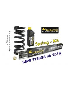 Height lowering kit, 30mm, for BMW F750GS from 2018 replacement springs