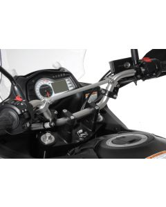Handlebar extension, 30 mm, Type 3, black, for Suzuki DL 650/V-Strom 650/DL1000, KTM LC4