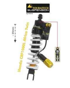 Touratech Suspension lowering shock (-25 mm) for Honda CRF1000L Africa Twin from 2018 Type Extreme