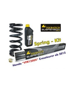 Progressive replacement springs for fork and shock absorber, Honda VFR1200X Crosstourer from 2012