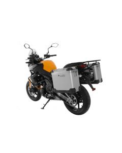"ZEGA Pro aluminium pannier system ""And-S"" 31/31 liter with steel rack black for Kawasaki Versys 650 (2010-2014)"