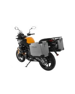 ZEGA Pro aluminium pannier system 45/45 liter with steel rack black for Kawasaki Versys 650 (2010-2014)