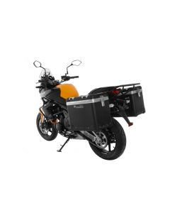 "ZEGA Pro aluminium pannier system ""And-Black"" 45/45 liter with steel rack black for Kawasaki Versys 650 (2010-2014)"