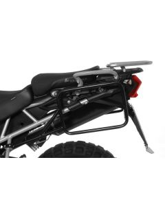 Stainless steel pannier rack for Triumph Tiger 800/ 800XC/ 800XCx, black