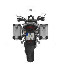 ZEGA Pro2 aluminium pannier system 31/31 litres with stainless steel rack for Ducati Multistrada 1200 up to 2014